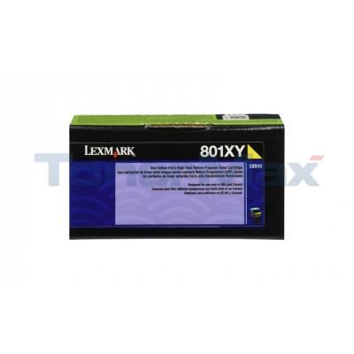 LEXMARK CX510 TONER CARTRIDGE YELLOW RP 4K